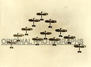12 Bi-planes in V-Formation.: AERIAL FORMATION.