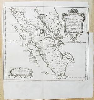 Carte de l'Isle de Sumatra. Dressée sur les Journaux des Navigateurs.: BELLIN, Jacques Nicolas.