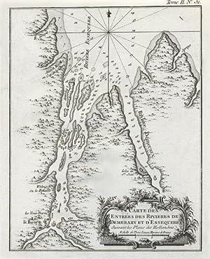 Carte des Entrées des Rivieres de Demerary et d'Essequebé. Suivant les Plans des Hollandois.: ...