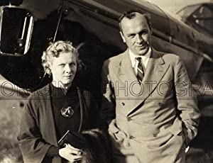 Portrait of David Llewellyn and his former pupil and passenger Mrs. R.D.G. (Jill) Wyndham during ...
