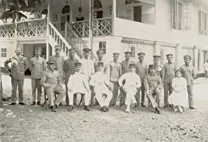 Group-portrait of Dutch-Indonesian Officers.: INDONESIA.