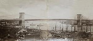 Brooklyn Bridge, Panorama in two parts.: NEW YORK.