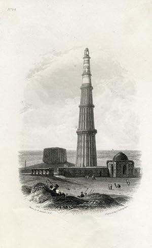 View on the Qutub Minar, Dehli, India.: DANIELL R. A., William.