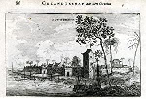 View on Fungching, with on the backside: NIEUHOF, Joan.