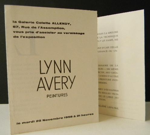 Lynn Avery Peintures Carton D Invitation Au Vernissage De L