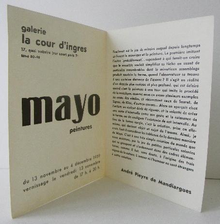 Mayo Peintures Carton D Invitation Au Vernissage De L Exposition