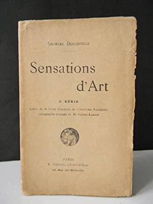 SENSATIONS D'ART. 3ème série. Lithographie originale de: DENOINVILLE (Georges).