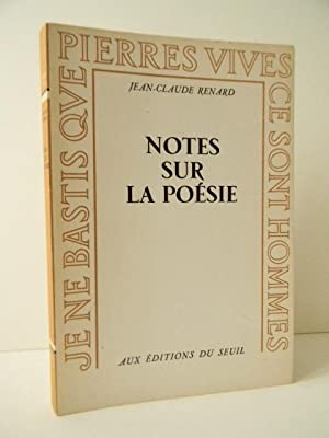 NOTES SUR LA POESIE.