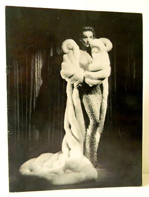 PROGRAMME DU RECITAL DE MARLENE DIETRICH AU THEATRE DE L'ETOILE EN 1959.: DIETRICH (Marlène)