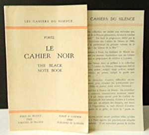 LE CAHIER NOIR. The black note book.