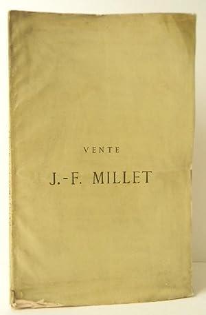 CATALOGUE DE LA VENTE JEAN-FRANCOIS MILLET. 10: MILLET (Jean-François)]