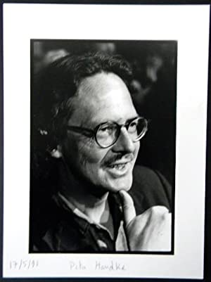 PHOTOGRAPHIE ORIGINALE. Portrait de Peter Handke.