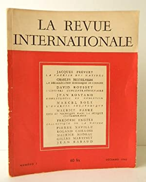 LA SAGESSE DES NATIONS. La Revue Internationale, n° 1 ? décembre 1945