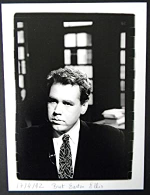 PORTRAIT PHOTOGRAPHIQUE ORIGINAL DE BRET EASTON ELLIS.