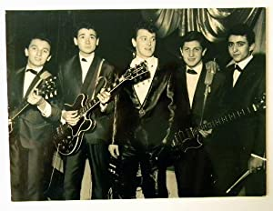 GENE VINCENT ET LES BLUE CAPS. Photographie originale.