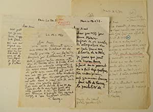 LETTRES AUTOGRAPHES A PIERRE BEARN.