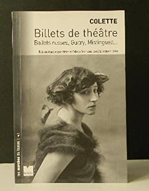 BILLETS DE THEATRE. Ballets russes, Guitry, Mistinguett ?