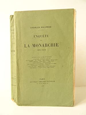ENQUETE SUR LA MONARCHIE. 1900 1909.