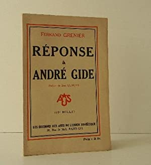 REPONSE A ANDRE GIDE.