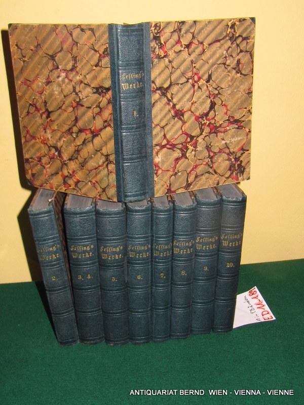 G. E. Lessings gesammelte Werke. [komplett 10: Lessing, Gotthold Ephraim:
