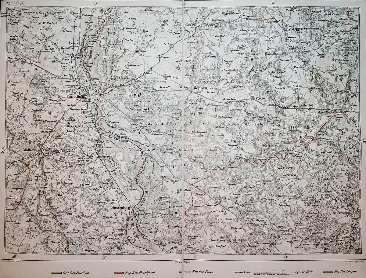 Frankfurt Karte Europa.Frankfurt An Der Oder Blatt Nr 93 G D