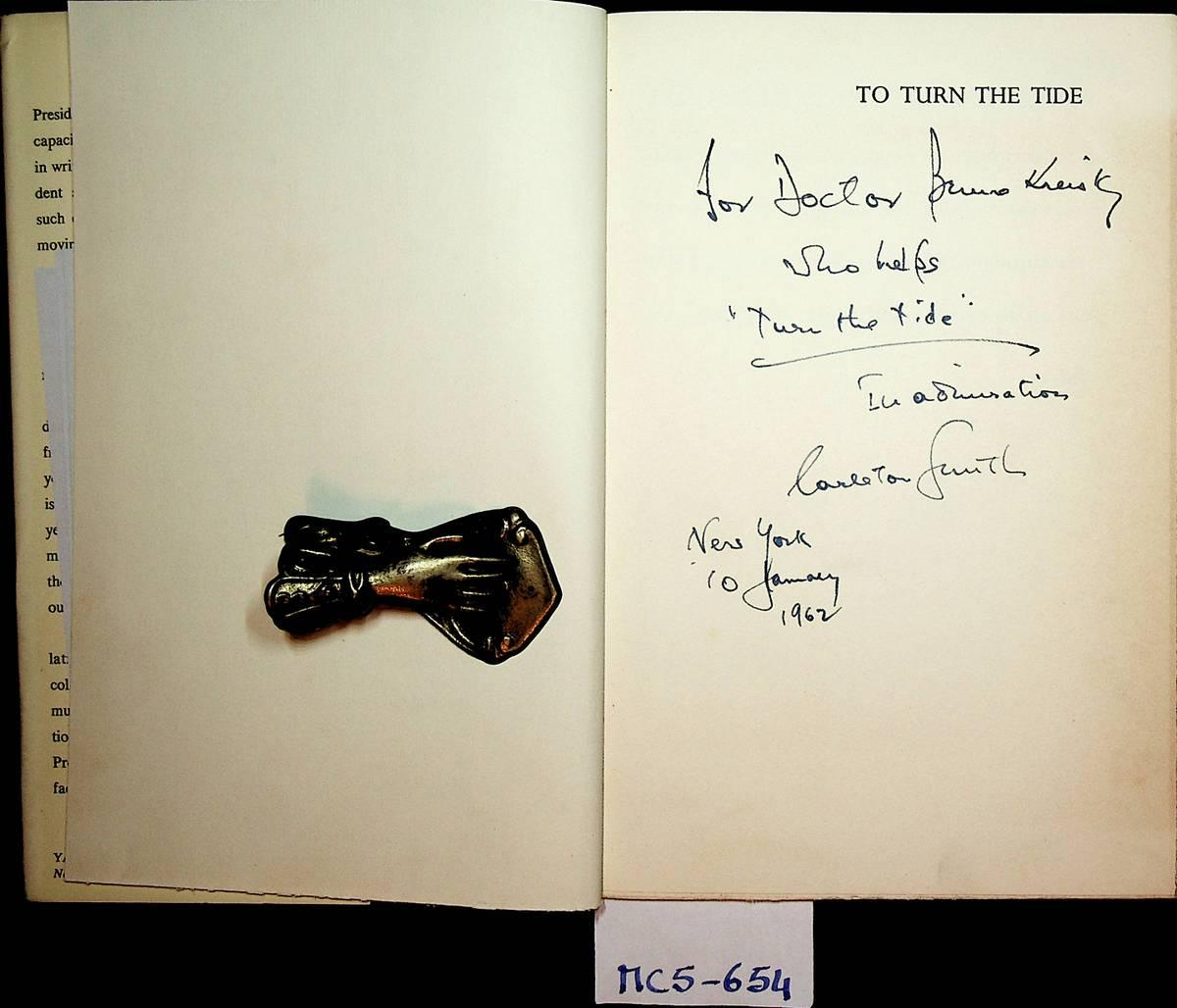To Turn The Tide. Edited by John: Kennedy, John F(itzgerald):