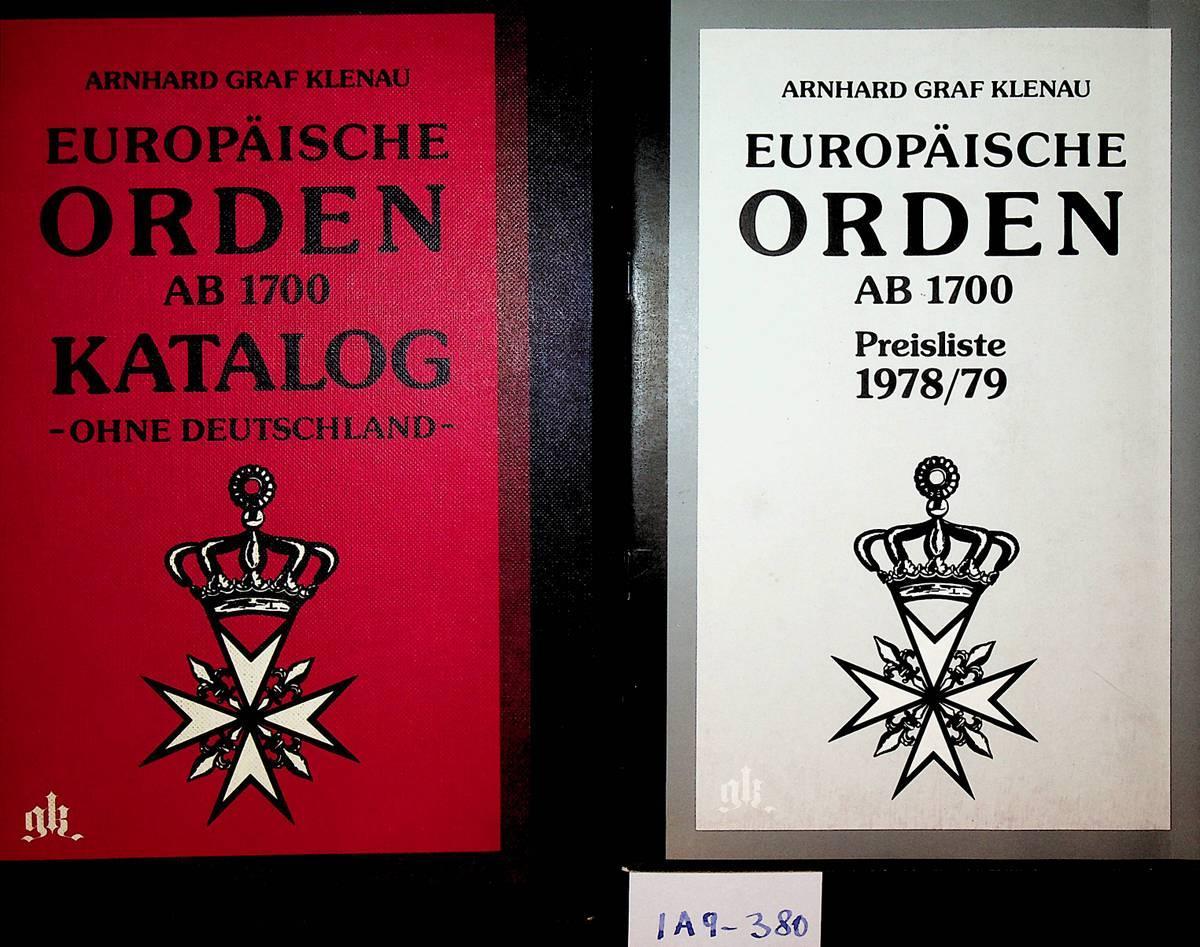 Europäische Orden ab 1700 : Katalog, ohne: Klenau, Arnhard Graf: