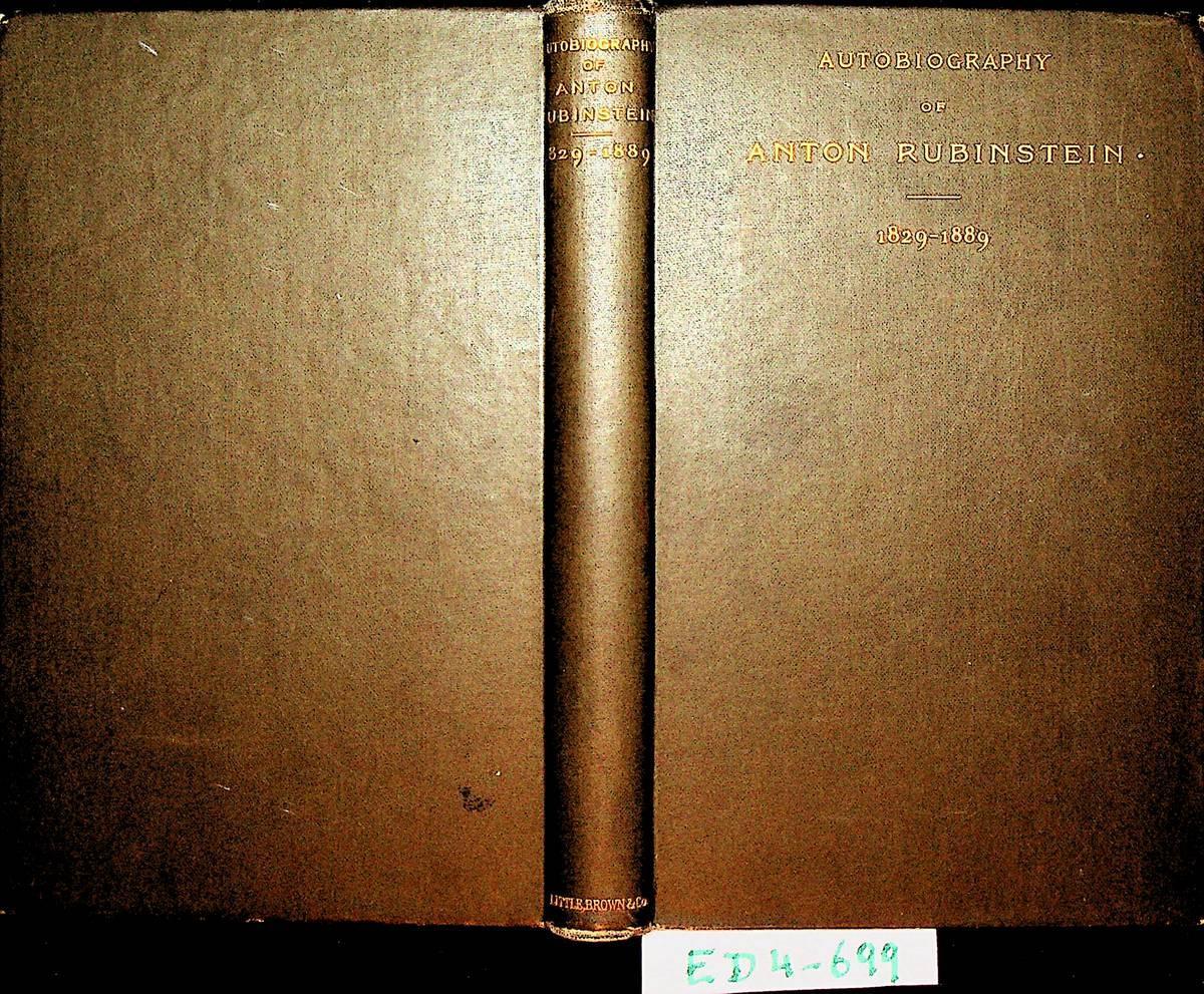 Autobiography Of Anton Rubinstein, 1829