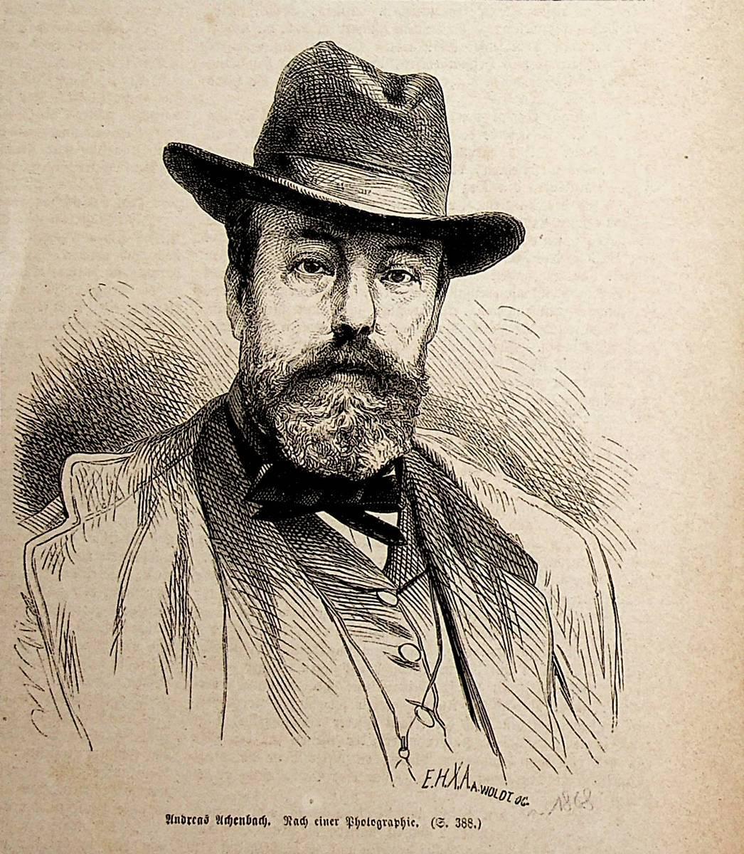 ACHENBACH, Andreas Achenbach (1815-1910), deutscher Maler
