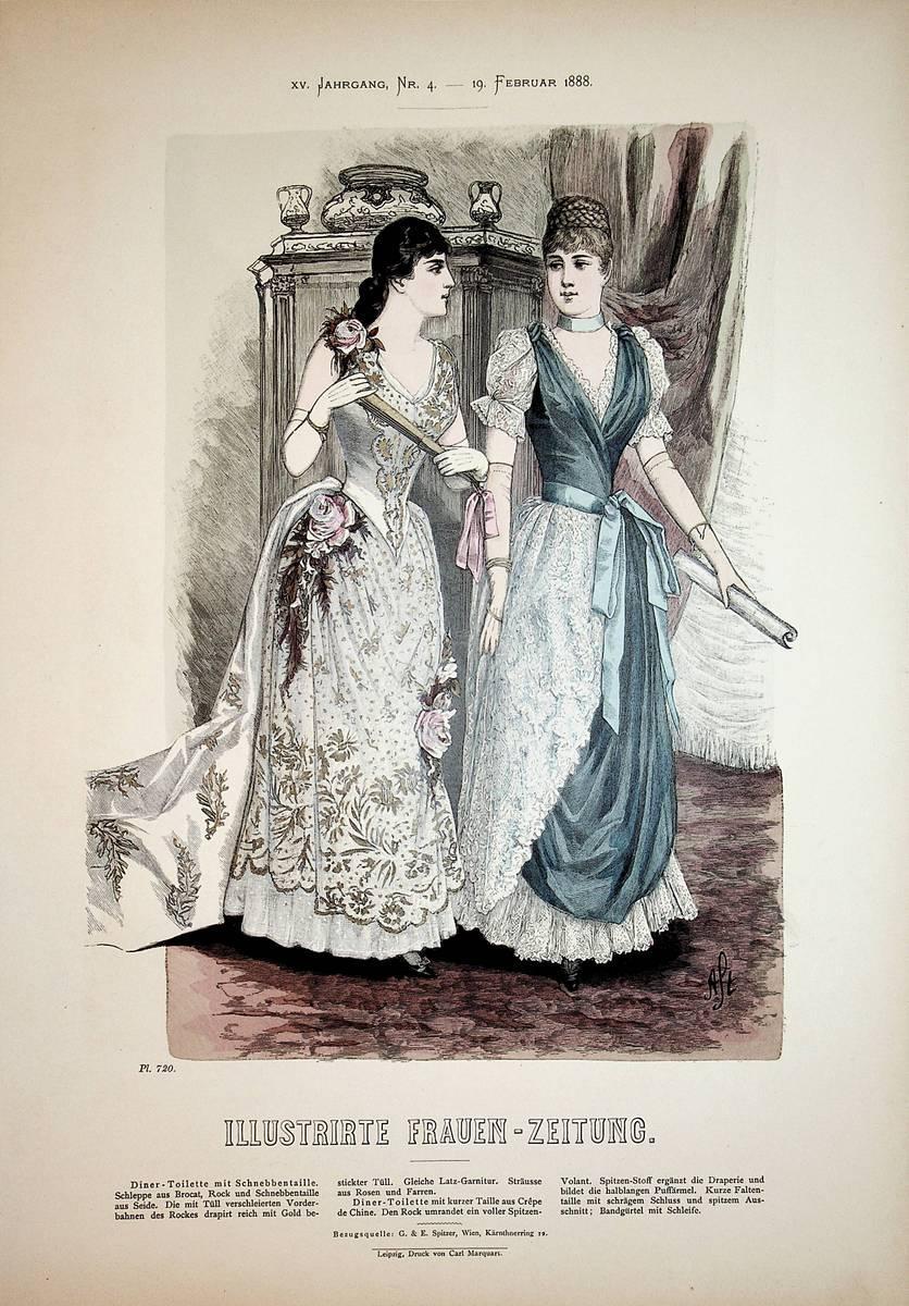 ABENDMODE. Blatt: 720 aus: Illustrirte Frauen-Zeitung: Ausgabe