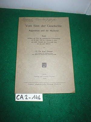 Vom Sinn der Geschichte : Augustinus und: Heussi, Karl: