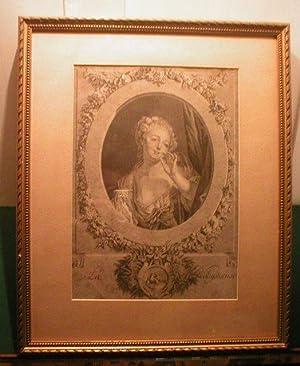 La Voluptueuse original Kupferstich von Robert Gaillard: Gaillard, Robert (1722