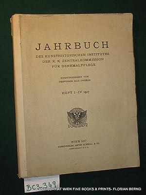 Jahrbuch des Kunsthistorischen Institutes der k.k. Zentralkommission: Dvorak, Max Hrsg.: