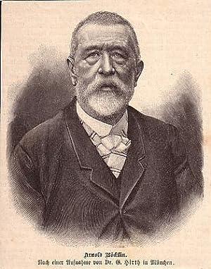 BÖCKLIN, Arnold Böcklin (1827-1901), Schweizer Maler, Zeichner,
