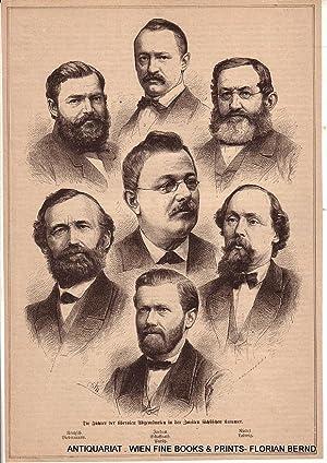 LIBERALE POLITIKER SACHSEN 1873, Gruppenporträt: Hermann Rentzsch