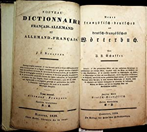 Neues französisch-deutsches und deutsch-französisches Wörterbuch. 2. Theil: Schaffer, Johann Friedrich: