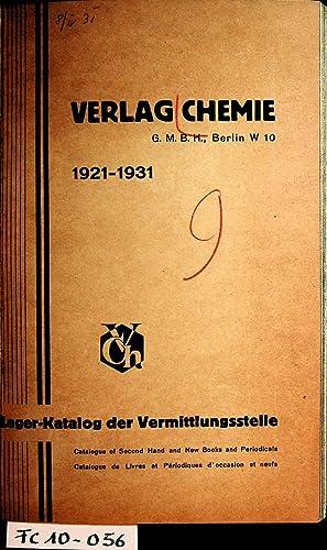 Lager-Katalog der Vermittlungsstelle 1921-1931= Catalogue of second