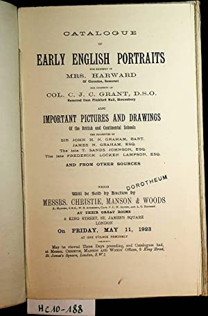 Catalogue of early English Portraits the Property