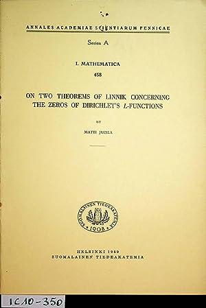 On two theorems of Linnik concerning the: Jutila, Matti: