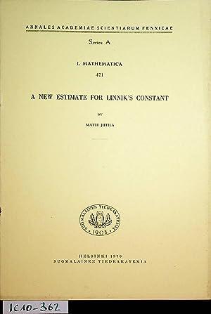 A new estimate for Linnik's constant, (=Annales: Jutila, Matti: