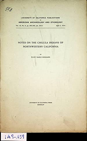 Notes on the Chilula Indians of northwestern California (= University of California publications ...