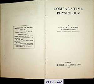 Comparative Physiology. (= Text-Books of Animal Biology)