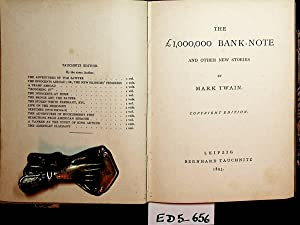 The £ 1,000,000 bank-note and other stories.: Twain, Mark: (d.i.