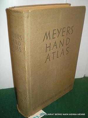 Meyers Hand-Atlas : 217 Haupt- und Nebenkarten