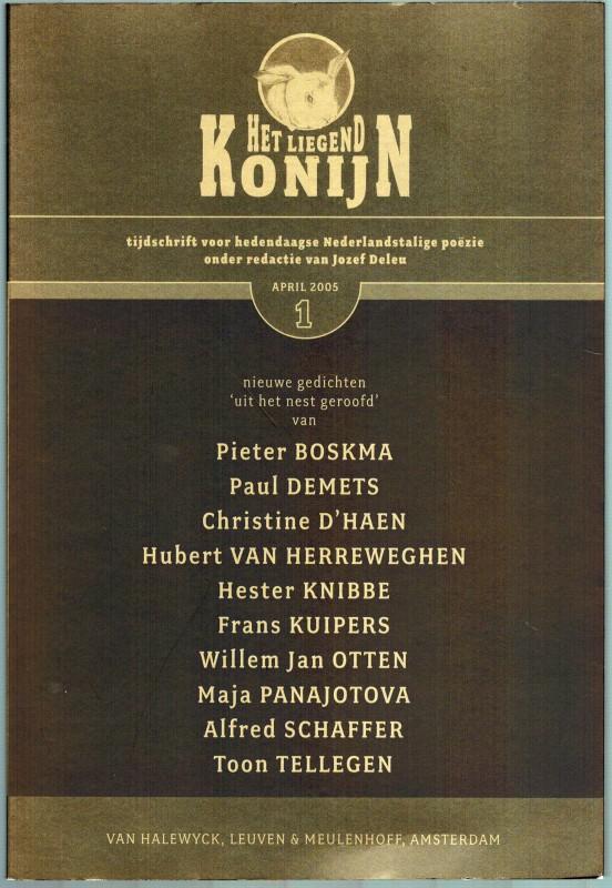 Het liegend Konijn - tijdschrift voor hedendaagse Nederlandstalige Poëzie. Jaargang 3 - Nummer 1. - Deuleu, Jezef (Red.)