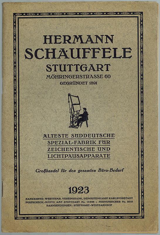 Hauptkatalog Von Hermann Schauffele Stuttgart Alteste Suddeutsche