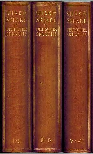 Shakespeare in deutscher Sprache. Herausgegeben - zum: Shakespeare, William
