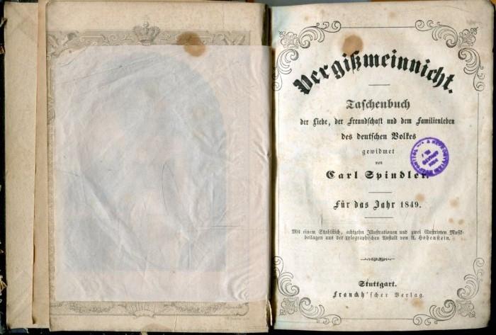 Vergißmeinnicht. Taschenbuch der Liebe, der Freundschaft und: Spindler, Carl