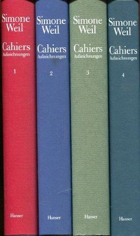 Cahiers. Aufzeichnungen. Band 1 bis 4. - Weil, Simone