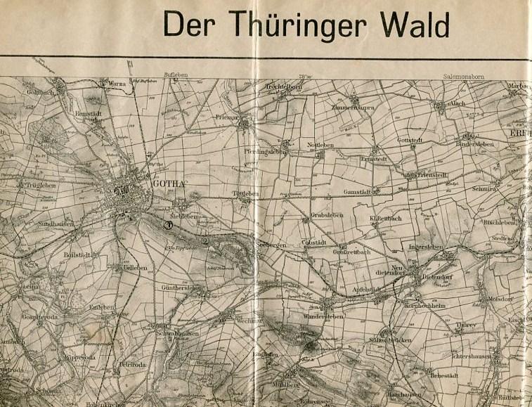 Thüringer Wald Karte.Der Thüringer Wald